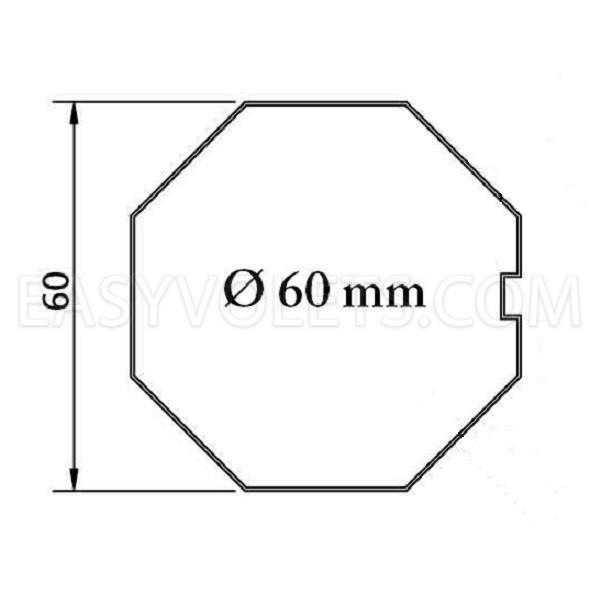 empreinte tube octogonal 60 mm France Fermetures